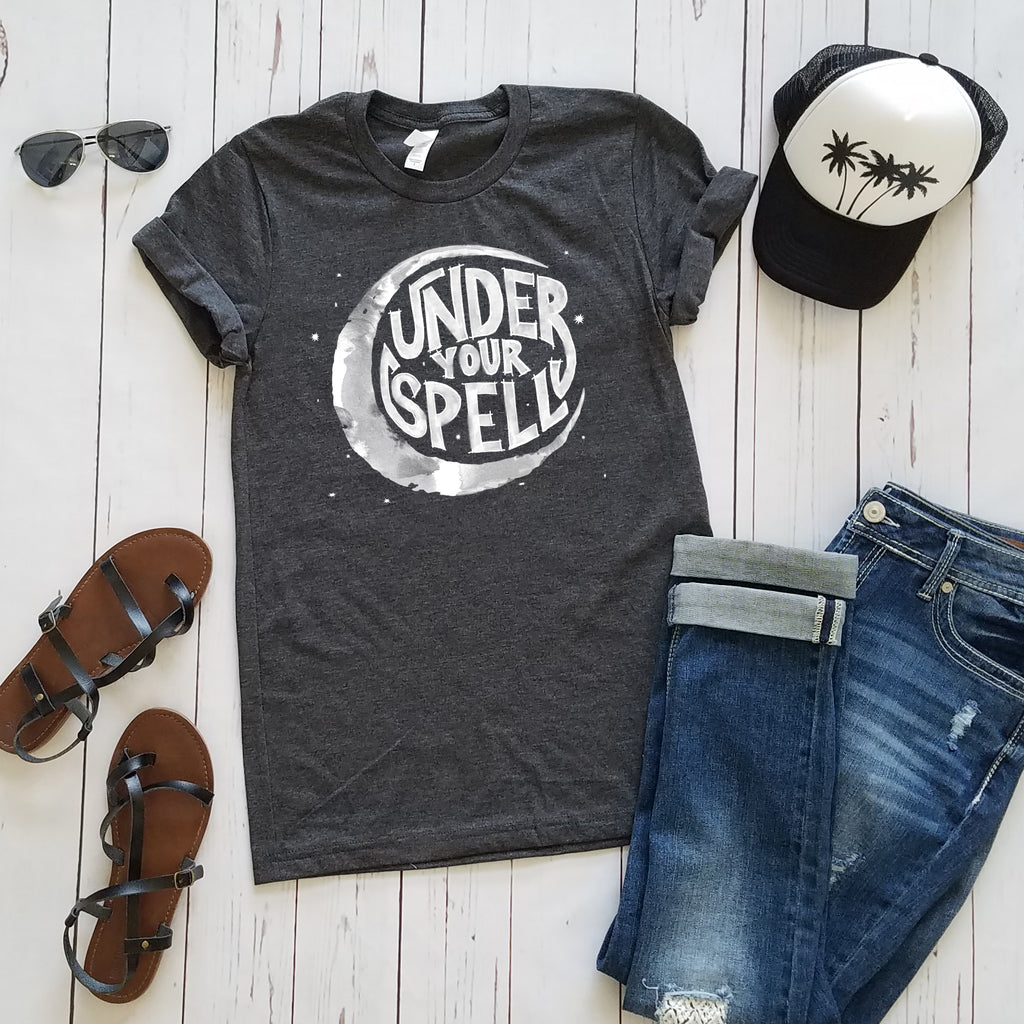 Heather Charcoal Under Your Spell Short Sleeve Tee