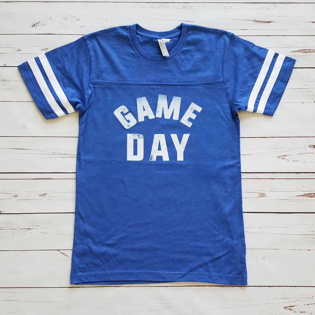 Blue Game Day Unisex Short Sleeve Football Tee