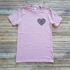 Lilac Heart On The Pocket Short Sleeve Tee
