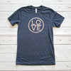 Heather Navy Love Circle Short Sleeve Tee
