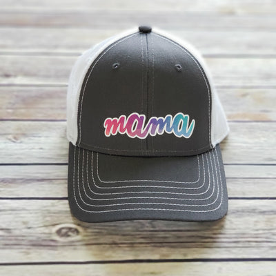 TRUCKER HAT | Mama | Gray Hat