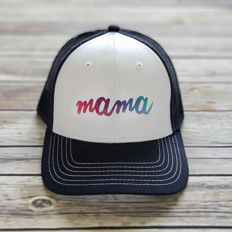 MESH BACK HAT | Mama | Navy/White