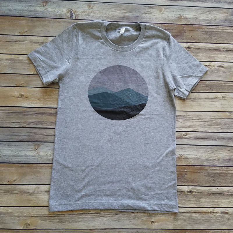 Heather Gray Mountains Unisex Short Sleeve Tee