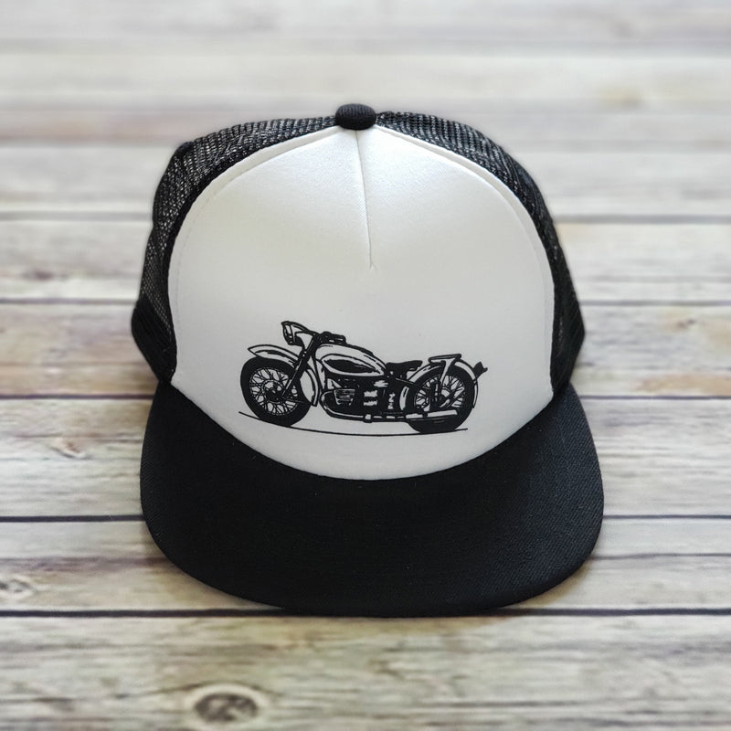 MESH BACK HAT | Motorcycle | Flat Bill