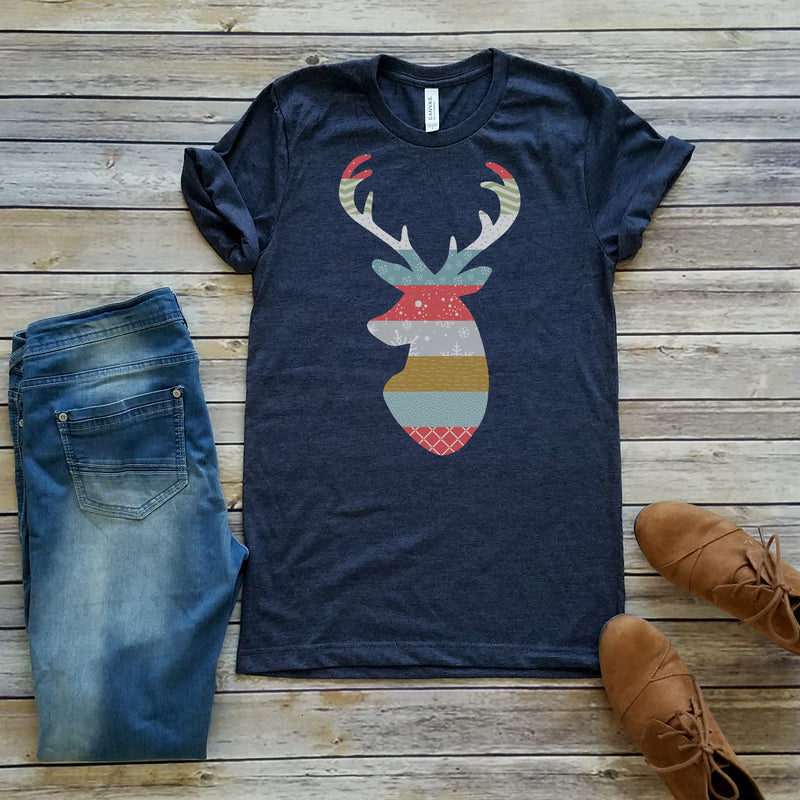 Navy Colorful Stag Short Sleeve Tee