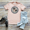 Heather Peach Summer Palms Short Sleeve Tee