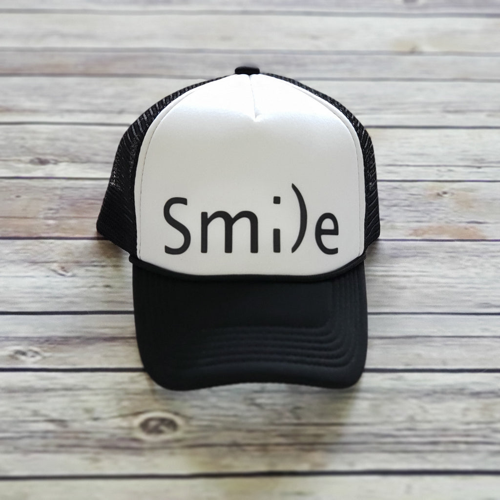 MESH BACK HAT | Smile | Black
