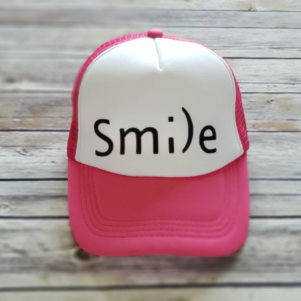 MESH BACK HAT | Smile | Pink