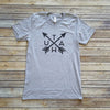 Heather Gray Utah Arrows Unisex Short Sleeve Tee