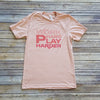 Heather Peach Work Hard Play Harder Short Sleeve Tee
