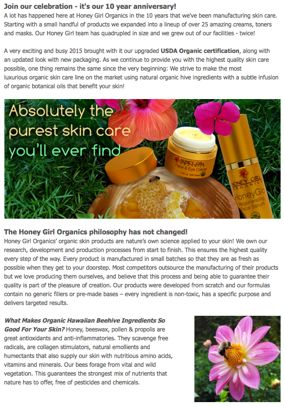 Honey Girl Organic Skin Care