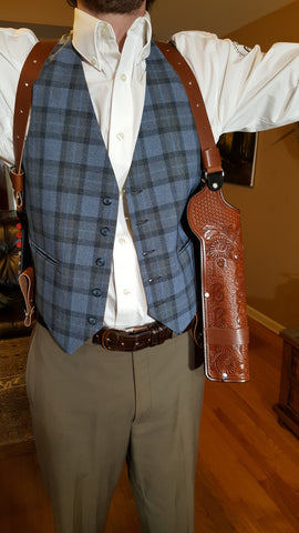 concealable shoulder holster for howdah shotgun