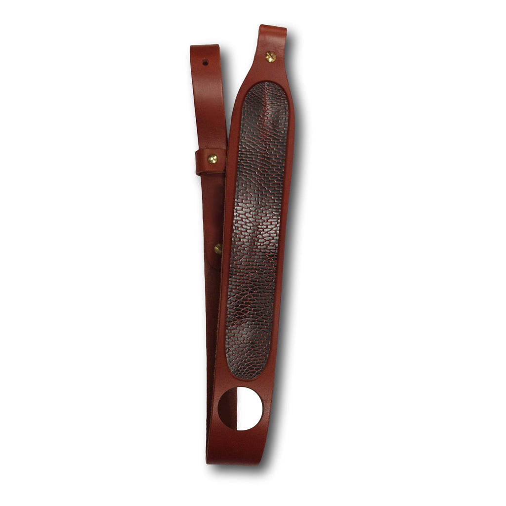 Beaver Tail Leather Rifle Sling with thumb hole