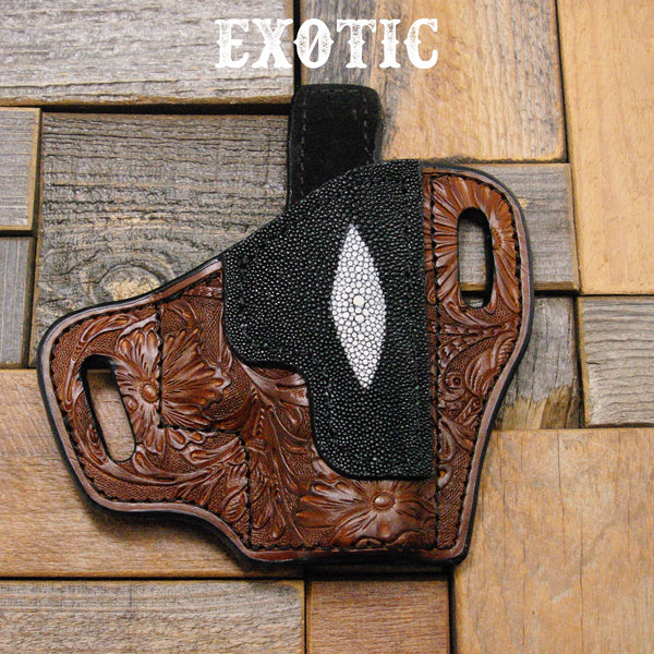 Exotic leather holsers