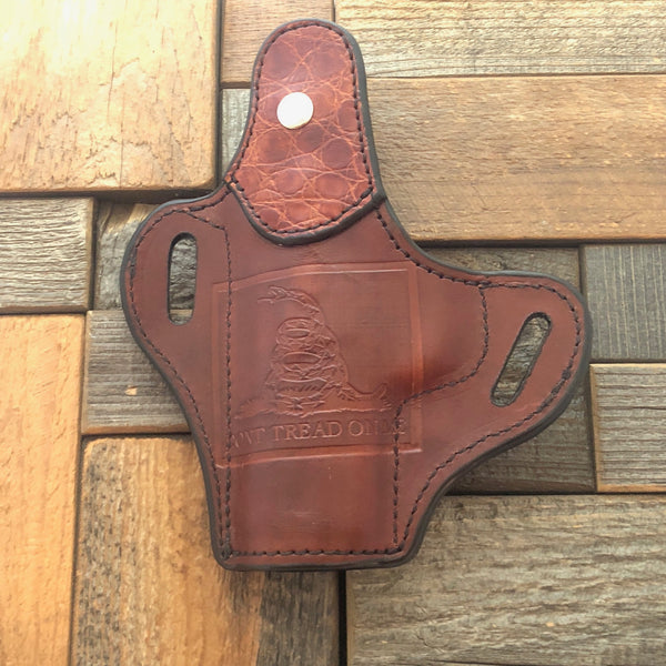 Leather thumb break holster