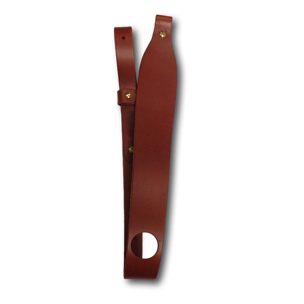 Leather rifle sling with thumb hole