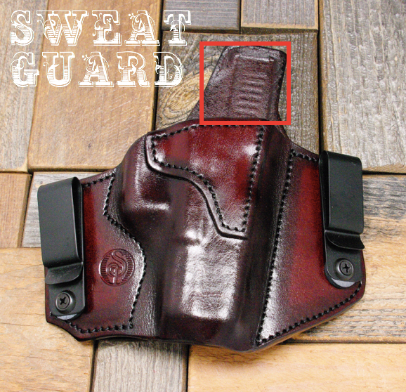Holster with sweat guard