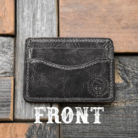 Mens credit card wallet rfid blocking buffalo leather