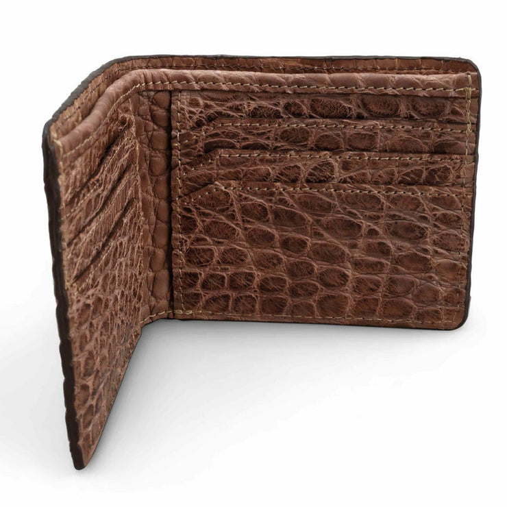 brown alligator wallet