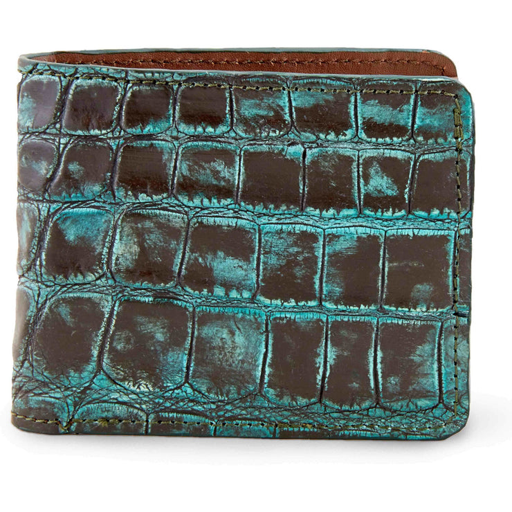 Alligator skin bifold wallet