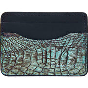 slim wallet alligator skin for men