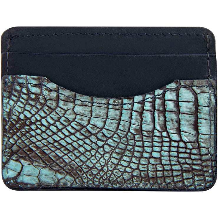 Alligator leather wallet for men