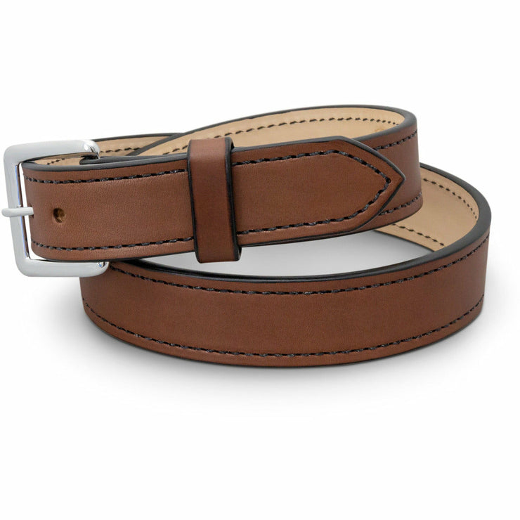 Brown leather gun belt