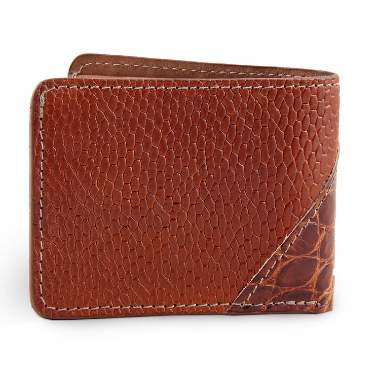 Alligator skin wallet for men