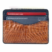 Alligator skin front pocket wallet