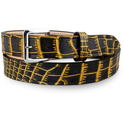 custom alligator belt