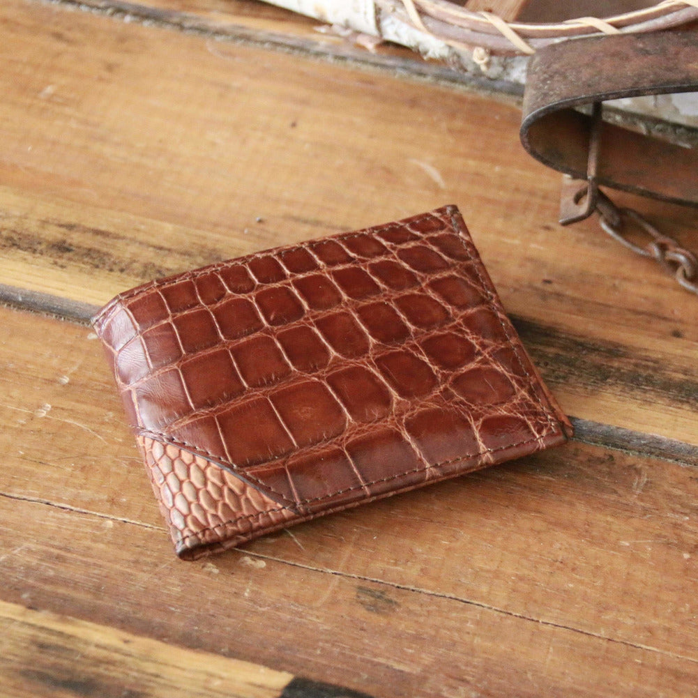 rfid blocking alligator skin wallet for men