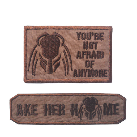 Predator Ake Her Home Embroidered Patch Set