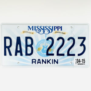 2015 Mississippi License Plate RAB 2223