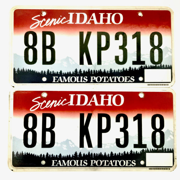 Idaho License Plate Pair 8B KP318