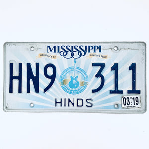 2019 Mississippi License Plate HN9 311