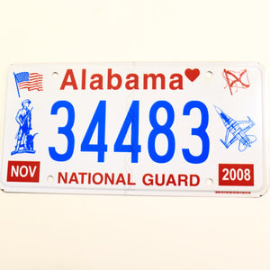 Alabama License Plate 34483