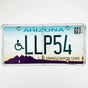 2019 Arizona License Plate LLP54