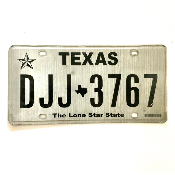Texas License Plate DJJ 3767