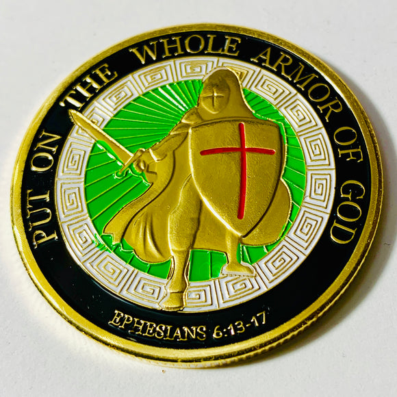Put On The Whole Armor Of God Challenge Coin - Synonyco.com
