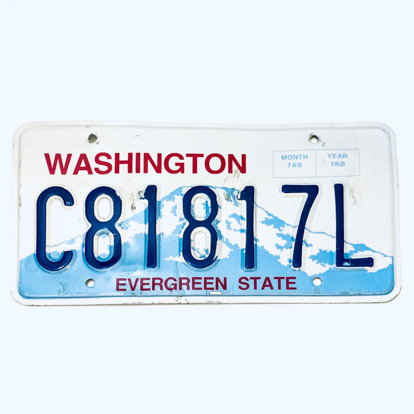 Washington License Plate c81817l