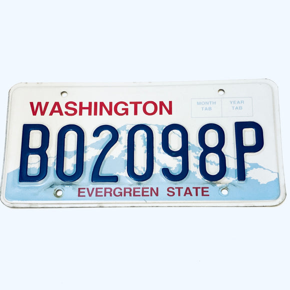 Washington License Plate B02098P