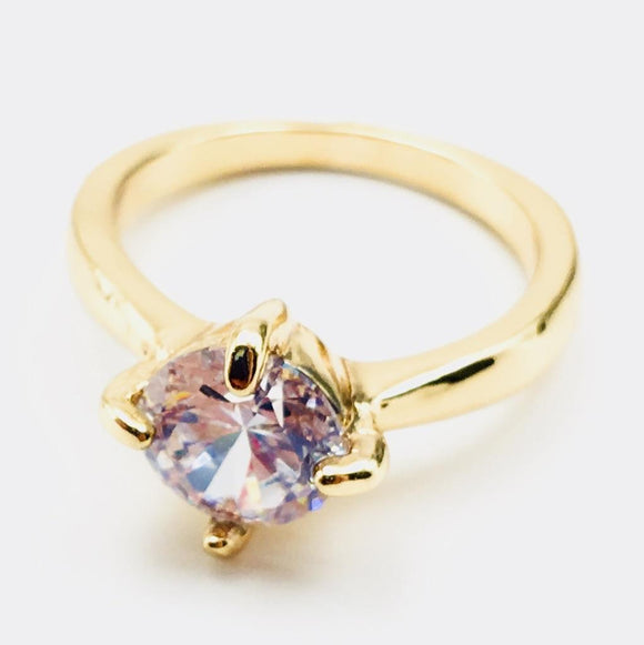 Clear Gemstone Fashion Ring Size 8