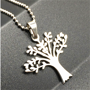 Stainless Steel Tree Necklace - Synonyco.com