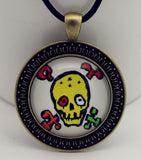 Yellow Skull Cabochon Necklace