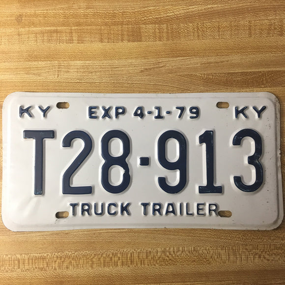 1979 Kentucky License Plate T28-913