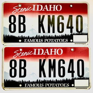Idaho License Plate Pair 8B KM640