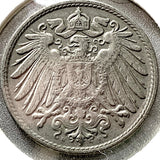 1914 D German Empire 10 Pfennig Coin - Synonyco.com