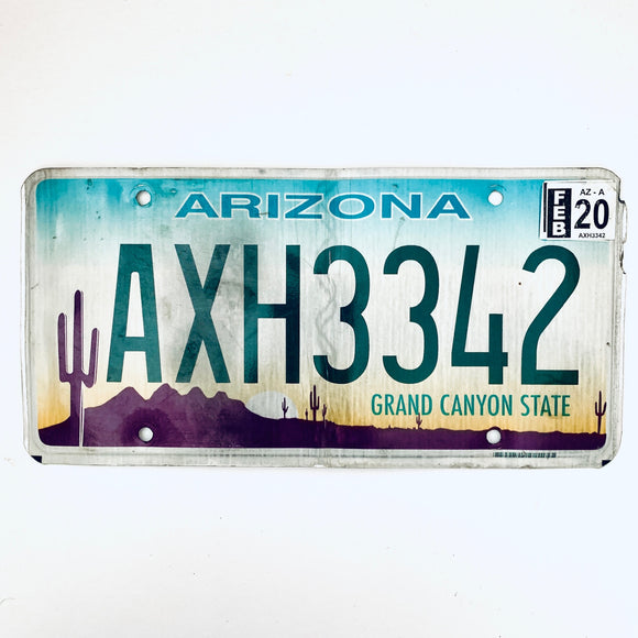 2020 Arizona License Plate AXH3342