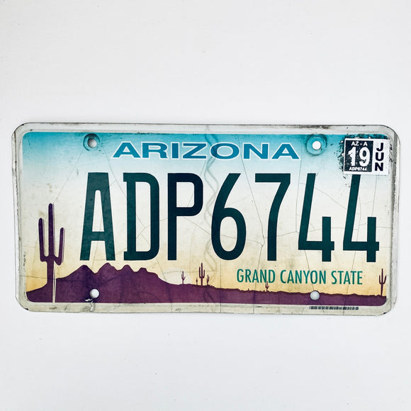 2019 Arizona License Plate ADP6744