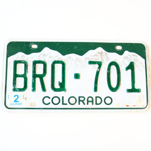 Colorado License Plate BRQ-701